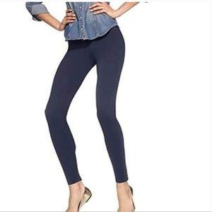 NWT HUE Women's Cotton Leggings Navy Large 12-14